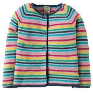 SOLD Girls Frugi Organic Cotton Rainbow Cardigan
